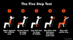 learn the 5 step booster seat test